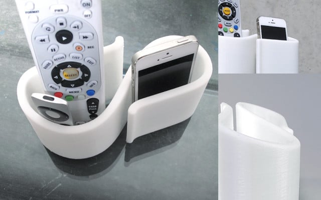 3D-Printable Remote Caddy