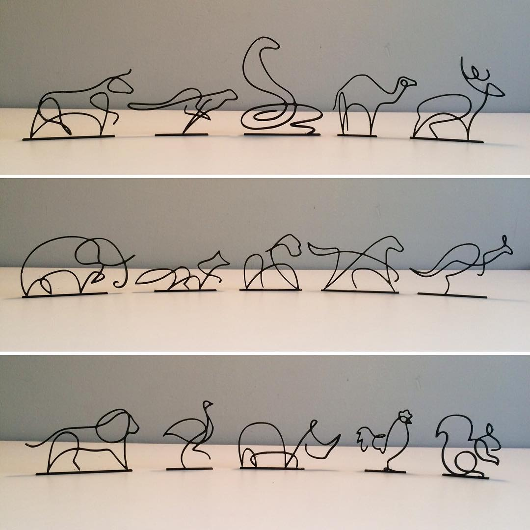 One Line Animals (with base)
